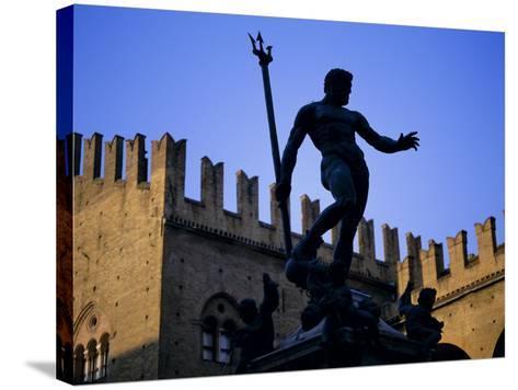 Nettuno (Neptune) Statue, Piazza Maggiore, Bologna, Emilia Romagna, Italy, Europe-Oliviero Olivieri-Stretched Canvas Print