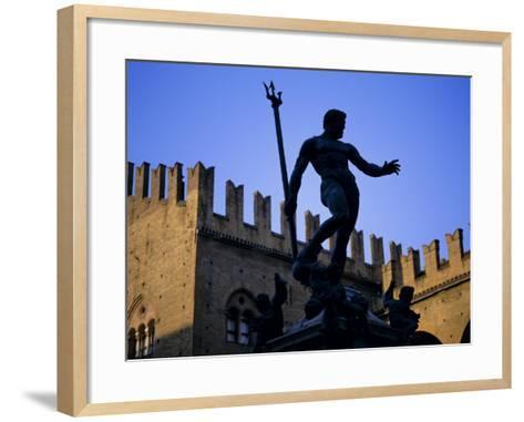 Nettuno (Neptune) Statue, Piazza Maggiore, Bologna, Emilia Romagna, Italy, Europe-Oliviero Olivieri-Framed Art Print