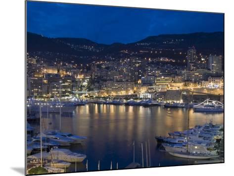 Waterfront at Night, Monte Carlo, Principality of Monaco, Cote d'Azur, Mediterranean, Europe-Sergio Pitamitz-Mounted Photographic Print