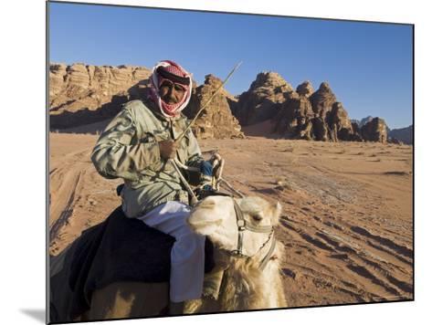 Bedouin on Camel in the Desert, Wadi Rum, Jordan, Middle East-Sergio Pitamitz-Mounted Photographic Print