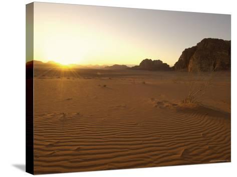 Desert, Wadi Rum, Jordan, Middle East-Sergio Pitamitz-Stretched Canvas Print