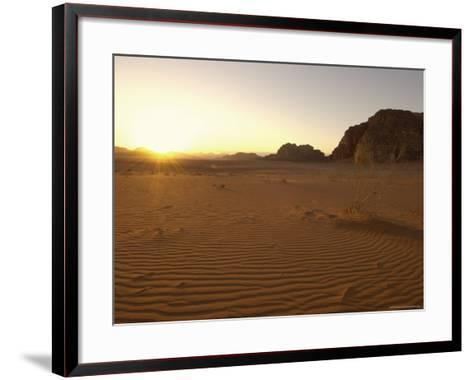 Desert, Wadi Rum, Jordan, Middle East-Sergio Pitamitz-Framed Art Print
