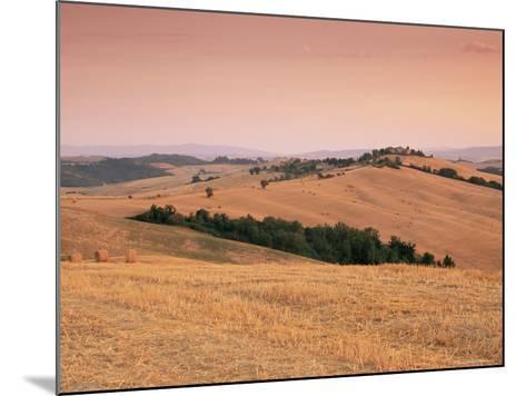 Fields at Sunset, Crete Senesi, Siena Province, Tuscany, Italy, Europe-Sergio Pitamitz-Mounted Photographic Print