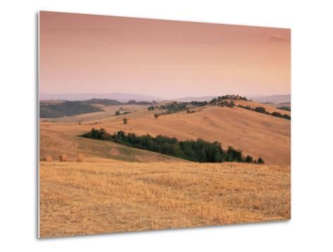 Fields at Sunset, Crete Senesi, Siena Province, Tuscany, Italy, Europe-Sergio Pitamitz-Metal Print