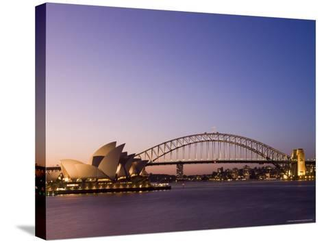 Opera House and Harbour Bridge, Sydney, New South Wales, Australia, Pacific-Sergio Pitamitz-Stretched Canvas Print