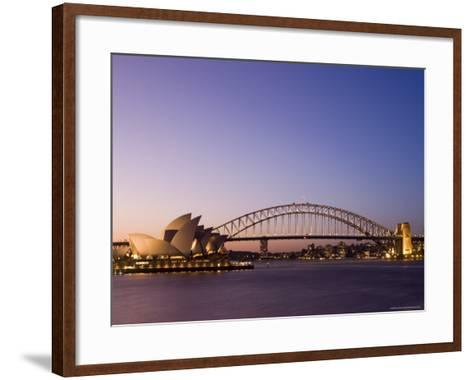 Opera House and Harbour Bridge, Sydney, New South Wales, Australia, Pacific-Sergio Pitamitz-Framed Art Print