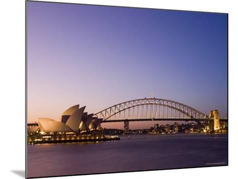Opera House and Harbour Bridge, Sydney, New South Wales, Australia, Pacific-Sergio Pitamitz-Mounted Photographic Print