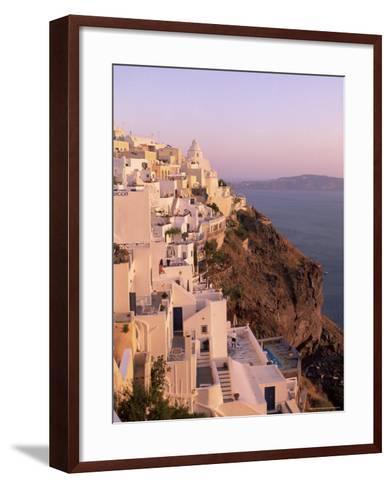 Fira, Santorini (Thira), Cyclades Islands, Aegean Sea, Greece, Europe-Sergio Pitamitz-Framed Art Print