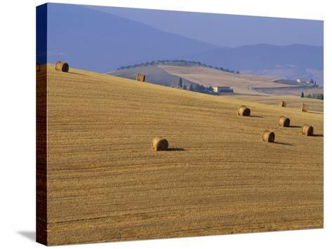 Hay Bales, Val d'Orcia, Siena Province, Tuscany, Italy, Europe-Sergio Pitamitz-Stretched Canvas Print