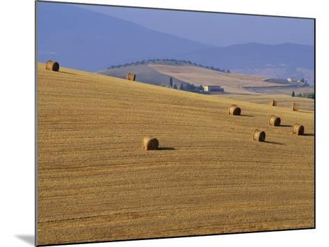 Hay Bales, Val d'Orcia, Siena Province, Tuscany, Italy, Europe-Sergio Pitamitz-Mounted Photographic Print
