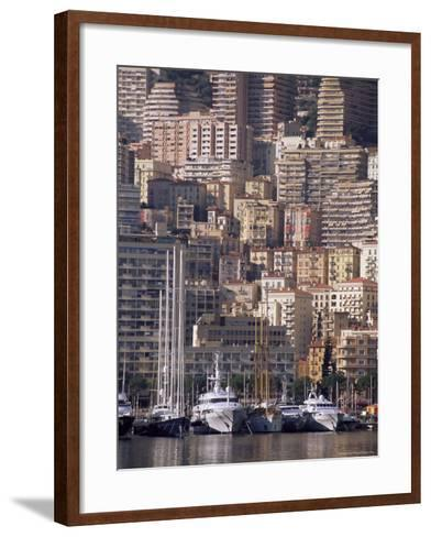 Boats on the Waterfront, Monte Carlo, Monaco, Cote d'Azur, Mediterranean, Europe-Sergio Pitamitz-Framed Art Print