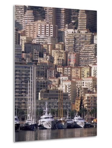Boats on the Waterfront, Monte Carlo, Monaco, Cote d'Azur, Mediterranean, Europe-Sergio Pitamitz-Metal Print
