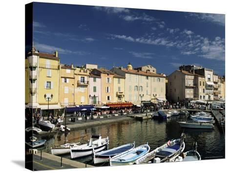 Boats and Waterfront, St. Tropez, Var, Cote d'Azur, Provence, French Riviera, France-Sergio Pitamitz-Stretched Canvas Print