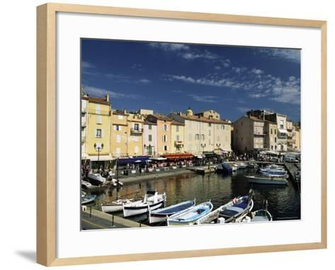 Boats and Waterfront, St. Tropez, Var, Cote d'Azur, Provence, French Riviera, France-Sergio Pitamitz-Framed Art Print