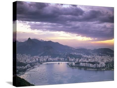 Botafogo Bay at Sunset, Rio De Janeiro, Brazil, South America-Sergio Pitamitz-Stretched Canvas Print