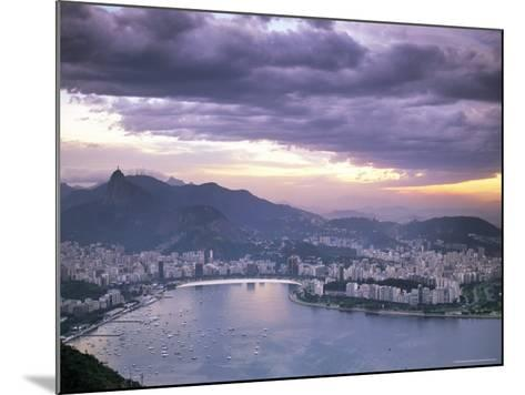 Botafogo Bay at Sunset, Rio De Janeiro, Brazil, South America-Sergio Pitamitz-Mounted Photographic Print
