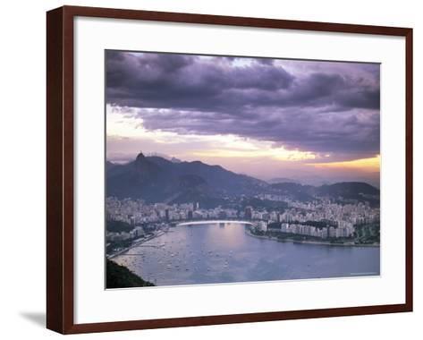 Botafogo Bay at Sunset, Rio De Janeiro, Brazil, South America-Sergio Pitamitz-Framed Art Print