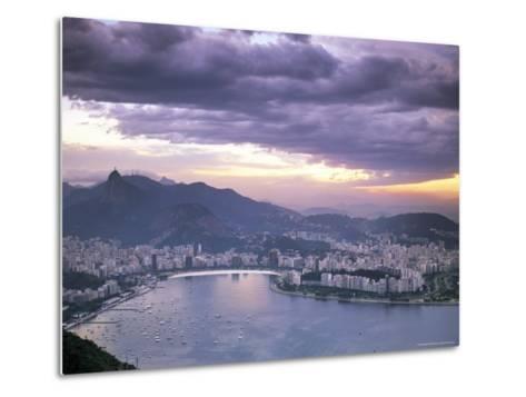 Botafogo Bay at Sunset, Rio De Janeiro, Brazil, South America-Sergio Pitamitz-Metal Print