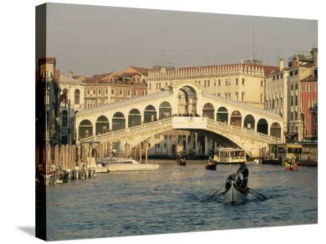 Rialto Bridge and the Grand Canal, Venice, Unesco World Heritage Site, Veneto, Italy, Europe-Sergio Pitamitz-Stretched Canvas Print