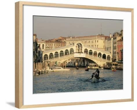 Rialto Bridge and the Grand Canal, Venice, Unesco World Heritage Site, Veneto, Italy, Europe-Sergio Pitamitz-Framed Art Print