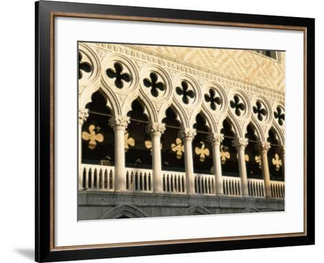 Architectural Detail of the Palazzo Ducale (Doge's Palace), Venice, Veneto, Italy, Europe-Sergio Pitamitz-Framed Art Print