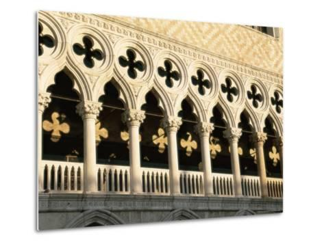 Architectural Detail of the Palazzo Ducale (Doge's Palace), Venice, Veneto, Italy, Europe-Sergio Pitamitz-Metal Print