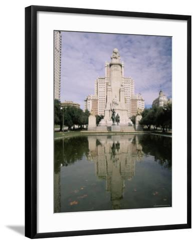 Plaza De Espana, Madrid, Spain, Europe-Sergio Pitamitz-Framed Art Print
