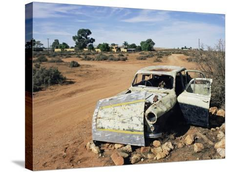 Abandoned Car Wreck, Silverton, Australian Outback, New South Wales, Australia, Pacific-Ann & Steve Toon-Stretched Canvas Print