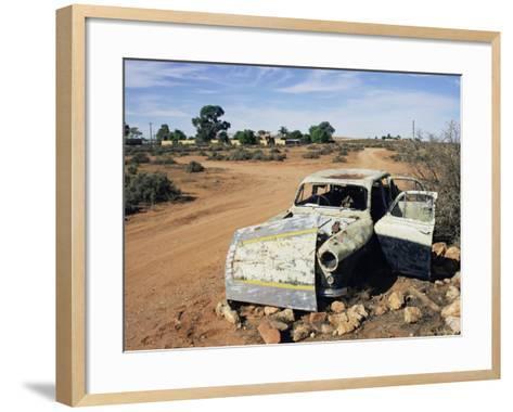 Abandoned Car Wreck, Silverton, Australian Outback, New South Wales, Australia, Pacific-Ann & Steve Toon-Framed Art Print