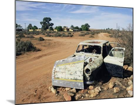 Abandoned Car Wreck, Silverton, Australian Outback, New South Wales, Australia, Pacific-Ann & Steve Toon-Mounted Photographic Print