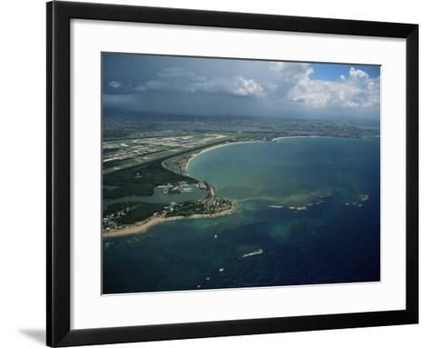 Aerial of the Island of Puerto Rico, West Indies, Central America-James Gritz-Framed Art Print
