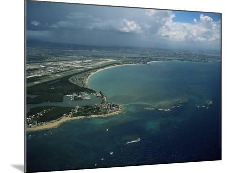 Aerial of the Island of Puerto Rico, West Indies, Central America-James Gritz-Mounted Photographic Print
