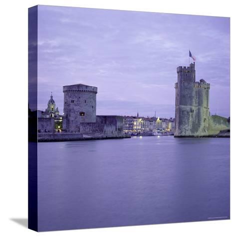 Harbour Entrance with Tour De La Chaine on Left and Tour St. Nicolas on Right, La Rochelle, France-Tony Gervis-Stretched Canvas Print