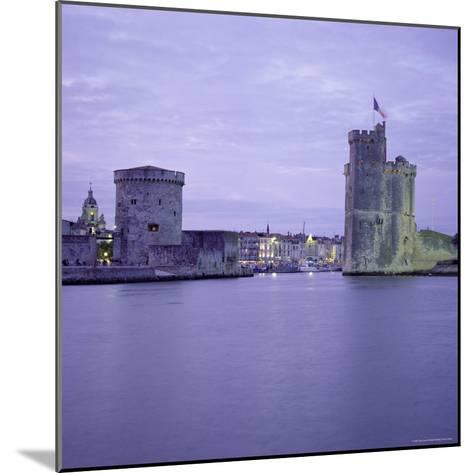 Harbour Entrance with Tour De La Chaine on Left and Tour St. Nicolas on Right, La Rochelle, France-Tony Gervis-Mounted Photographic Print