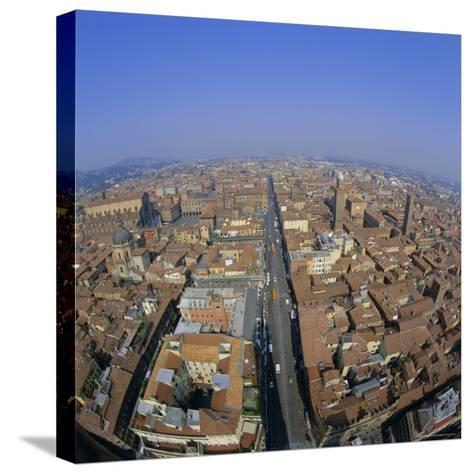 Aerial View of the City, Bologna, Emilia-Romagna, Italy, Europe-Tony Gervis-Stretched Canvas Print