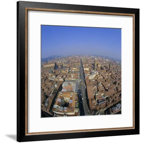 Aerial View of the City, Bologna, Emilia-Romagna, Italy, Europe-Tony Gervis-Framed Art Print