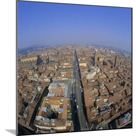Aerial View of the City, Bologna, Emilia-Romagna, Italy, Europe-Tony Gervis-Mounted Photographic Print