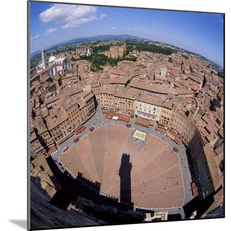 Aerial View of the Piazza Del Campo and the Town of Siena, Tuscany, Italy-Tony Gervis-Mounted Photographic Print
