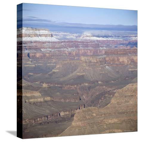 The Grand Canyon in Winter, Unesco World Heritage Site, Arizona, USA-Tony Gervis-Stretched Canvas Print