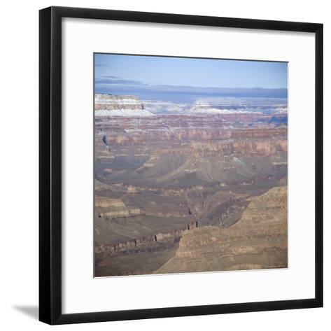 The Grand Canyon in Winter, Unesco World Heritage Site, Arizona, USA-Tony Gervis-Framed Art Print
