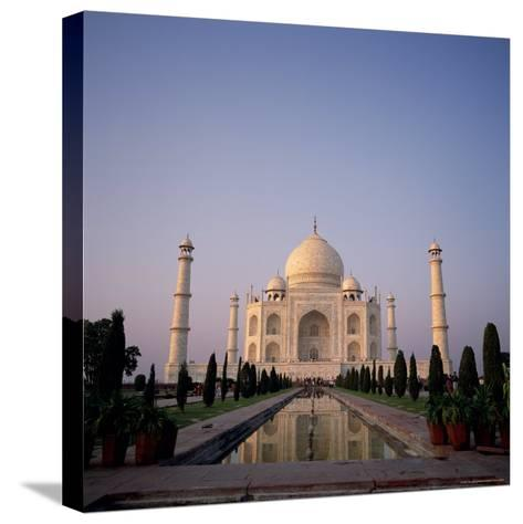 The Taj Mahal at Dawn, Agra, Uttar Pradesh, India-Tony Gervis-Stretched Canvas Print