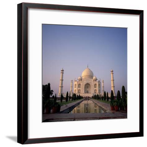 The Taj Mahal at Dawn, Agra, Uttar Pradesh, India-Tony Gervis-Framed Art Print