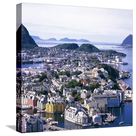 View Over Alesund, More Og Romsdal, Norway, Scandinavia, Europe-Geoff Renner-Stretched Canvas Print