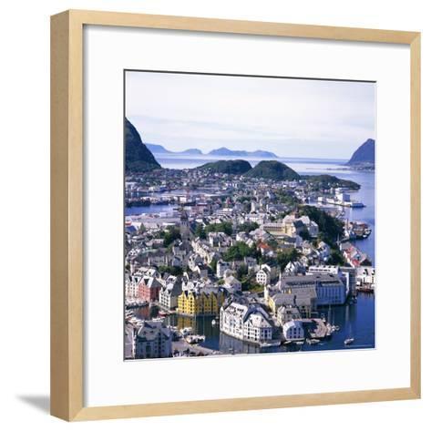 View Over Alesund, More Og Romsdal, Norway, Scandinavia, Europe-Geoff Renner-Framed Art Print