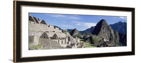 Ruins of Inca City, Machu Picchu, Unesco World Heritage Site, Urubamba Province, Peru-Gavin Hellier-Framed Art Print