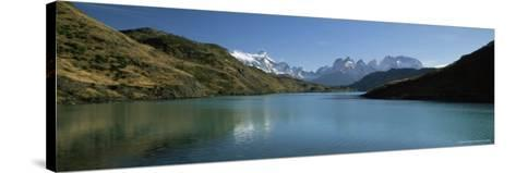 Cuernos Del Paine Rising up Above Rio Paine, Torres Del Paine National Park, Patagonia, Chile-Gavin Hellier-Stretched Canvas Print