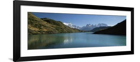Cuernos Del Paine Rising up Above Rio Paine, Torres Del Paine National Park, Patagonia, Chile-Gavin Hellier-Framed Art Print