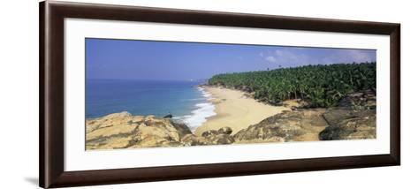 Coconut Palms and Beach, Kovalam, Kerala State, India, Asia-Gavin Hellier-Framed Art Print