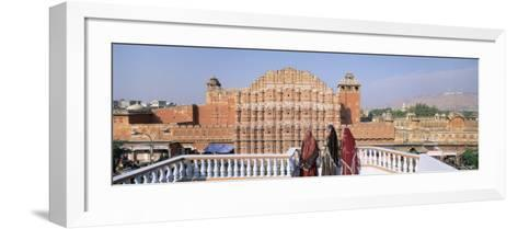 Women in Saris in Front of the Facade of Hawa Mahal, Jaipur, Rajasthan State, India-Gavin Hellier-Framed Art Print
