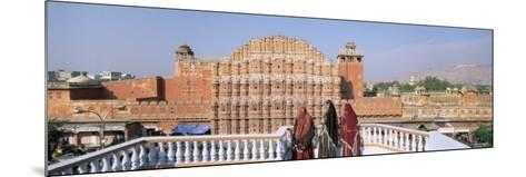 Women in Saris in Front of the Facade of Hawa Mahal, Jaipur, Rajasthan State, India-Gavin Hellier-Mounted Photographic Print